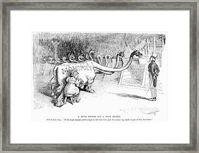 Monopoly Cartoon, 1887 Framed Print by Granger