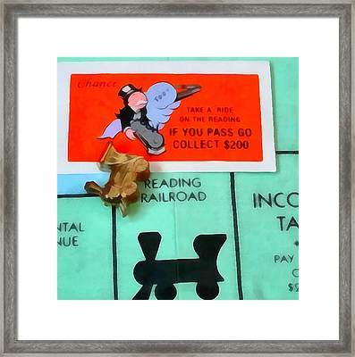 Monopoly Man Framed Print by Dan Sproul