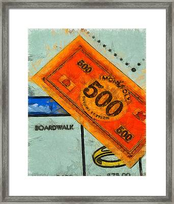 Monopoly Money Framed Print by Dan Sproul
