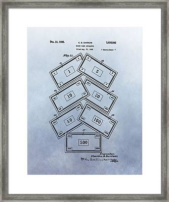 Monopoly Money Patent Framed Print by Dan Sproul