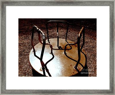 Monroe Airplane Park Merry Go Round Framed Print by Janine Riley