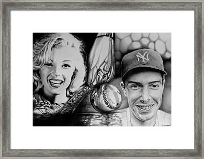 Monroe And Dimaggio Framed Print by Geni Gorani