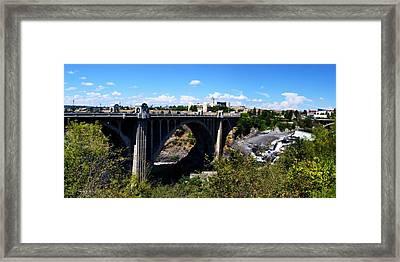 Monroe Street Bridge - Spokane Framed Print by Michelle Calkins