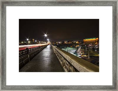 Monroe Street View - Spokane Framed Print by Mark Kiver