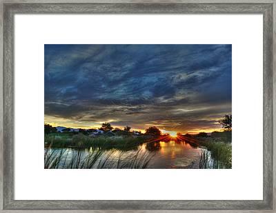 Monsoon Sunset Framed Print by Tam Ryan