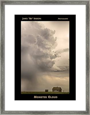 Monster Cloud Poster Framed Print by James BO  Insogna