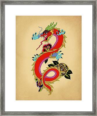 Monster Dragon  Framed Print by Mark Ashkenazi