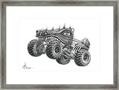 Monster Truck Framed Print by Murphy Elliott