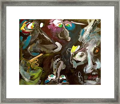 Monsters Afoot  Framed Print by Michelle Dommer