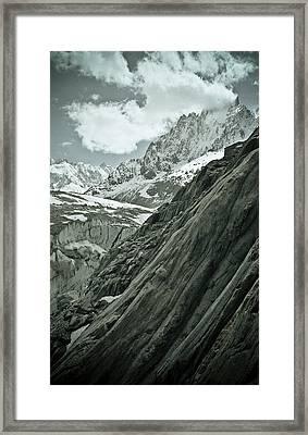 Mont Blanc Glacier Framed Print by Frank Tschakert