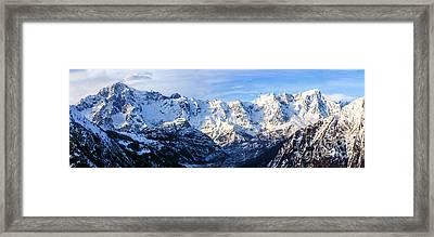 Mont Blanc View  Framed Print by Luca Venturelli