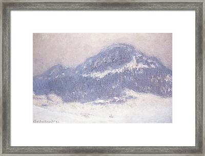 Mont Kolsaas Framed Print by Claude Monet