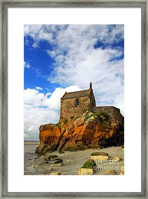 Mont Saint Michel Abbey Fragment Framed Print by Elena Elisseeva