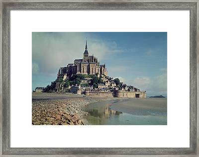 Mont Saint-michel Photo Framed Print by French School