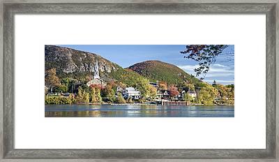 Mont St. Hilaire Autumn Scene Framed Print by Rick Shea