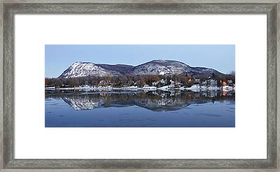 Mont St. Hilaire Mirror Image Framed Print by Rick Shea