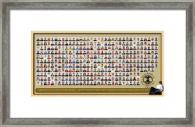 Montage No Background Framed Print by PhotoChasers