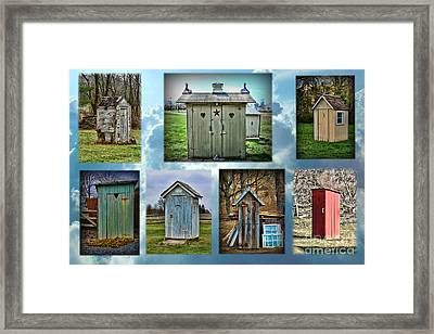 Montage Of Outhouses Framed Print by Paul Ward