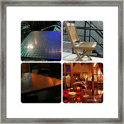 Montage Tables And Chairs Framed Print by ARTography by Pamela Smale Williams