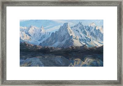 Montain Mirror Framed Print by Marco Busoni