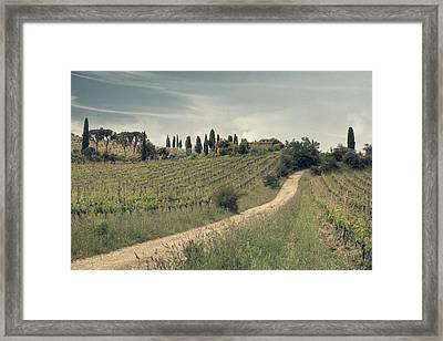 Montalcino - Tuscany Framed Print by Joana Kruse