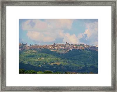 Montalcino Framed Print by Marilyn Dunlap