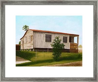 Montalvo Family House - Puerto Rico Framed Print by Robin Capecci