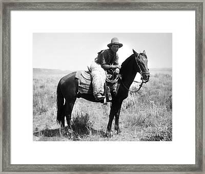 Montana Cowboy 1904 Framed Print by Granger