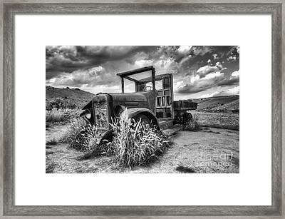 Montana Hauler Framed Print by Bob Christopher