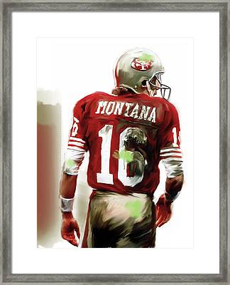Montana II  Joe Montana Framed Print by Iconic Images Art Gallery David Pucciarelli