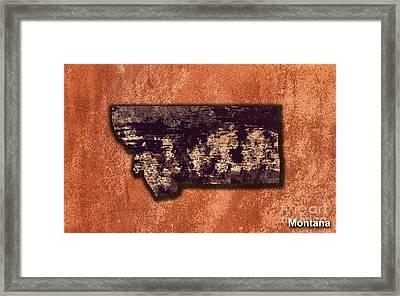 Montana Map Framed Print by Marvin Blaine