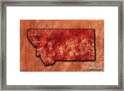 Montana Original Art Framed Print by Marvin Blaine