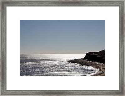 Montauk Beach And Bluff Framed Print by John Telfer