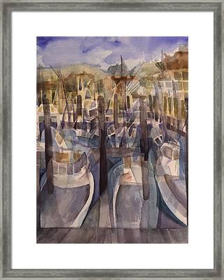 Montauk Marina Framed Print by Lynne Bolwell