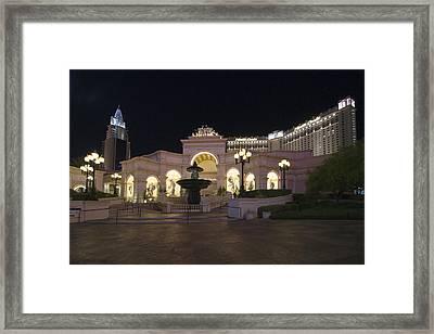 Monte Carlo Resort - Las Vegas Framed Print by Brendan Reals