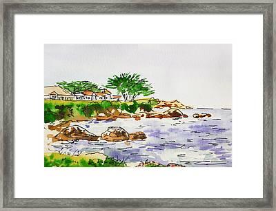 Monterey- California Sketchbook Project Framed Print by Irina Sztukowski