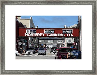 Monterey Cannery Row California 5d25029 Framed Print by Wingsdomain Art and Photography