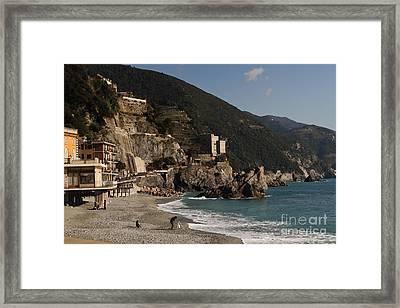 Monterosso Al Mare Framed Print by Leslie Leda