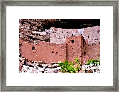 Montezuma Castle  Framed Print by Bob and Nadine Johnston