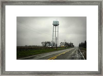Montezuma Iowa Water Tower Framed Print by Gregory Dyer