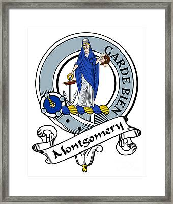 Montgomery Clan Badge Framed Print by John Lehman