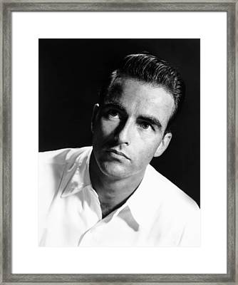 Montgomery Clift, Ca. Early 1950s Framed Print by Everett