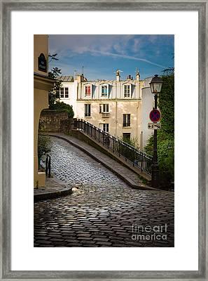 Montmartre Alley Framed Print by Inge Johnsson