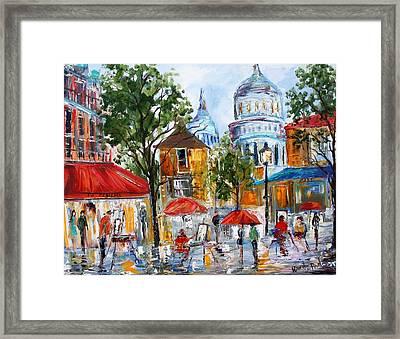 Montmartre Paris Framed Print by Karen Tarlton