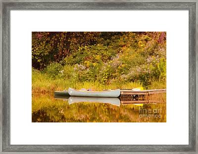 Montpelier Canoe Framed Print by Deborah Benoit