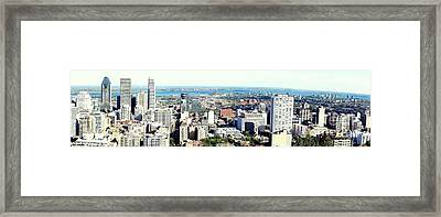 Montreal City View From Mont Royal Framed Print by Lingfai Leung