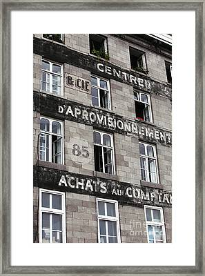 Montreal Windows Framed Print by John Rizzuto