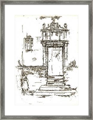 Montresor Chapel Doorway 1840 Framed Print by Padre Art