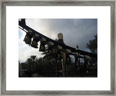 Montu Roller Coaster - Busch Gardens Tampa - 01139 Framed Print by DC Photographer