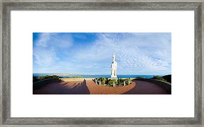 Monument On The Coast, Cabrillo Framed Print by Panoramic Images